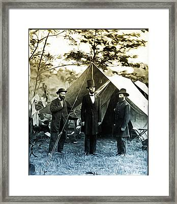 Lincoln - Pinkerton -  Mcclernand Framed Print
