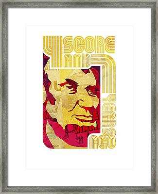 Lincoln 4 Score On White Framed Print by Jeff Steed
