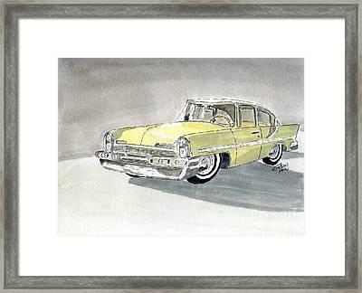Lincoln Capri 1957 Framed Print by Eva Ason