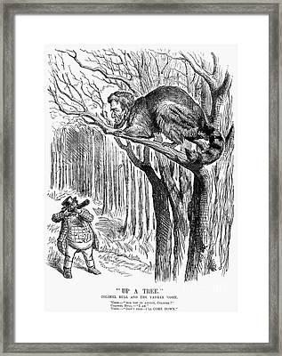 Lincoln Cartoon, 1862 Framed Print