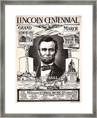 Lincoln Centennial, C1909 Framed Print by Granger