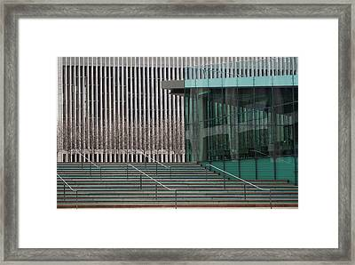 Lincoln Center Lines Framed Print by Cornelis Verwaal