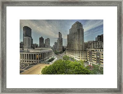 Lincoln Center Framed Print by William Fields