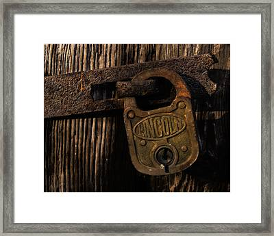 Lincoln Lock Framed Print by Steven Richardson