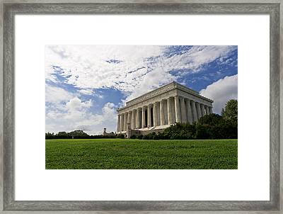 Lincoln Memorial And Sky Framed Print