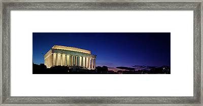 Lincoln Memorial At Sunset Framed Print by Metro DC Photography