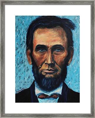 Lincoln Portrait #4 Framed Print by Daniel W Green