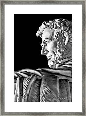 Lincoln Profile Framed Print by Christopher Holmes