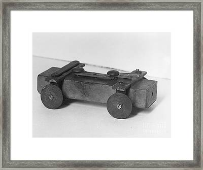 Lincoln Toy Wagon Framed Print by Granger