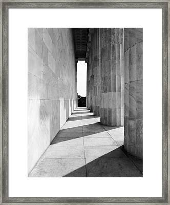 Lincolns Columns Framed Print by Jan W Faul