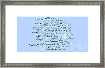 Lincoln's Second Inagural-word Cloud Framed Print