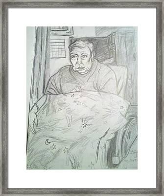 Linda In Her Room Framed Print by Hannah Curran