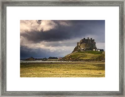 Lindisfarne Castle, Beblowe Crag Framed Print