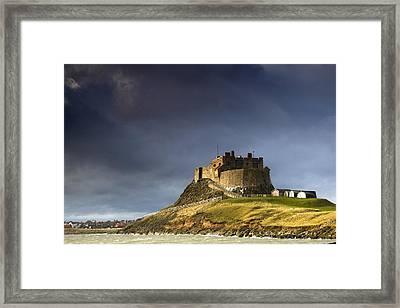 Lindisfarne Castle On A Volcanic Mound Framed Print