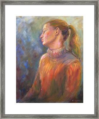 Lindsay Framed Print by Bonnie Goedecke