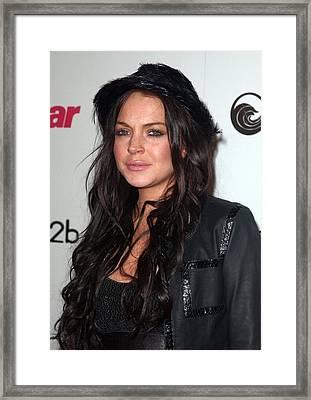 Lindsay Lohan At Arrivals For Star Framed Print by Everett