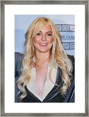 Lindsay Lohan In Attendance For Gotti Framed Print