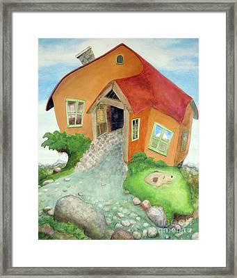 Lindsay's Stucco Cottage Framed Print