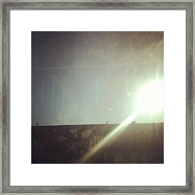 Line Framed Print