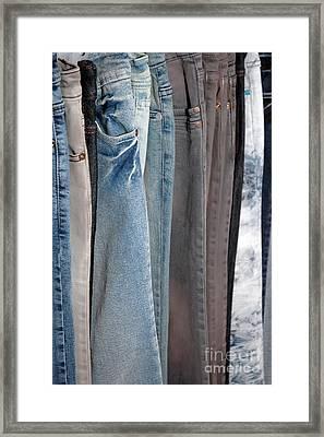 Line Of Jeans Framed Print by Antoni Halim
