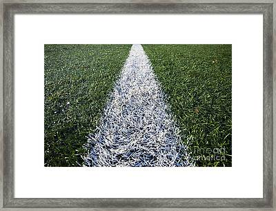 Line On Sports Field Framed Print by Paul Edmondson