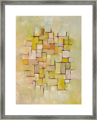 Line Series Yellow Basket Weave Framed Print