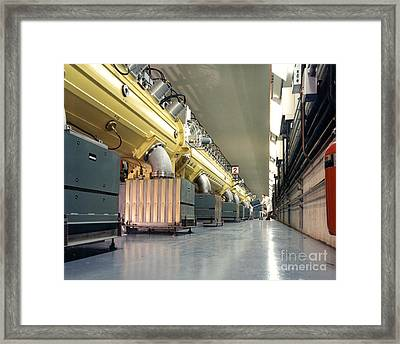 Linear Accelerator Linac Framed Print by Science Source