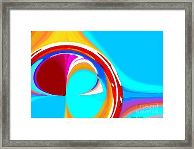 Linear Circles Framed Print by Rogerio Mariani
