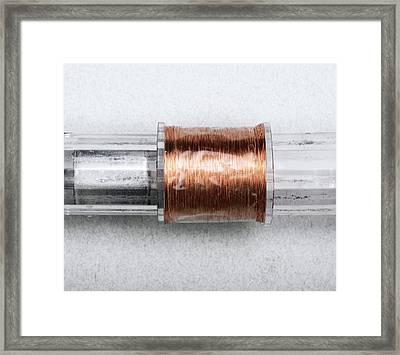 Linear Dynamo Framed Print by Victor De Schwanberg