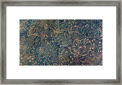 Linear Floral Framed Print by Emma Manners