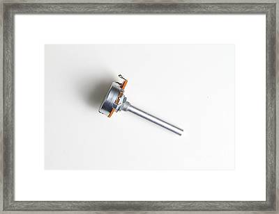 Linear-taper Potentiometer Framed Print by Photo Researchers, Inc.