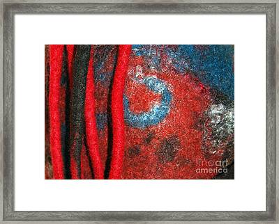 Lined Up Reds     Framed Print