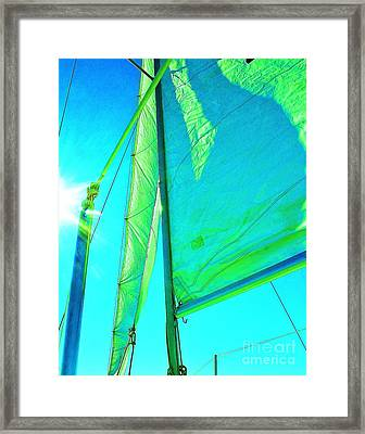 Lines And Sheets Framed Print by Julie Lueders