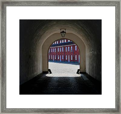 Lines At The End Of The Tunnel Framed Print by Odd Jeppesen