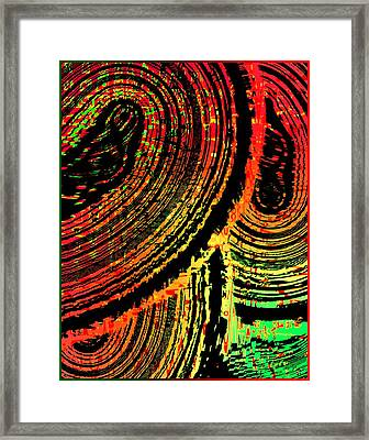 Lines In Colored Design Framed Print by Mario Perez