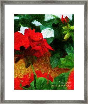 Lines Of Red Framed Print by Steven Lebron Langston