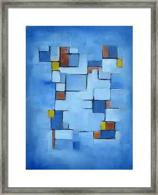 Lines Series Blue Red Yellow II Framed Print