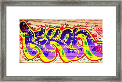 Lines To Words   Framed Print by Puzzles Shum