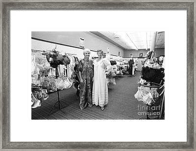 Lingerie Ladies Framed Print by Gerhardt Isringhaus