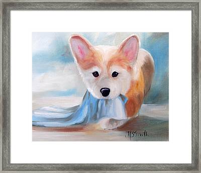Linus And His Blanket Framed Print by Mary Sparrow