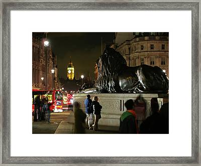 Framed Print featuring the photograph Lion An Ben by Pedro Cardona