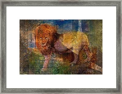 Lion Framed Print by Arline Wagner