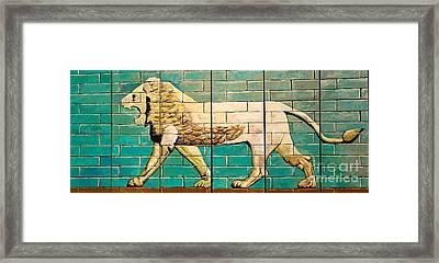Lion Of Babylon Framed Print by Unknown - Local Iraqi National