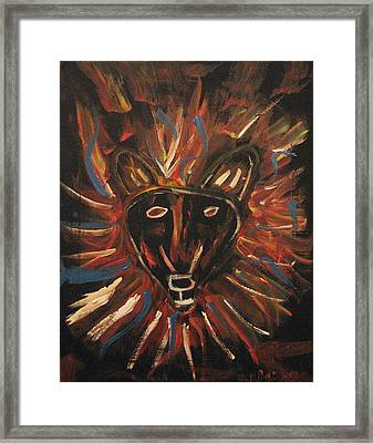 Lion Of The Tribe Of Judea Framed Print by Kristen Pagliaro