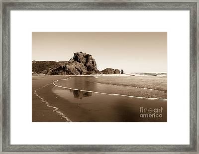 Lion Rock Framed Print