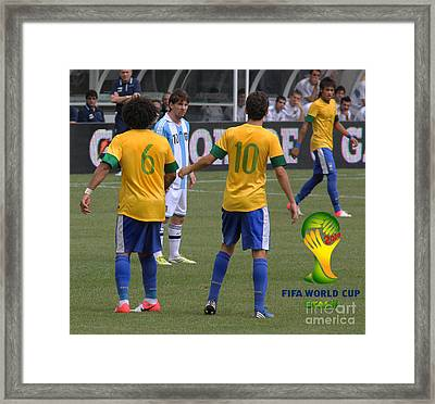 Lionel Messi You Cant Stop Me Framed Print by Lee Dos Santos