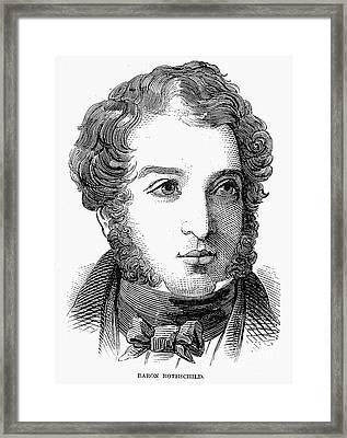 Lionel Nathan De Rothschild Framed Print by Granger