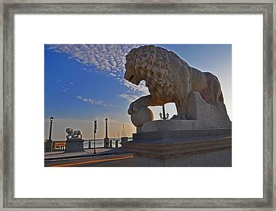 Lions Gate Bridge Framed Print by Peter  McIntosh