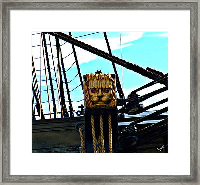 Lions Head Framed Print by Bruce Carpenter