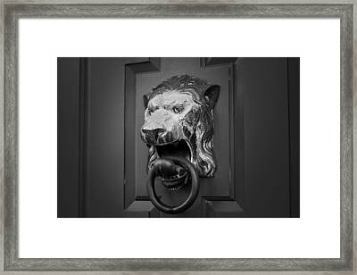 Lions Head Framed Print by Eric Gendron
